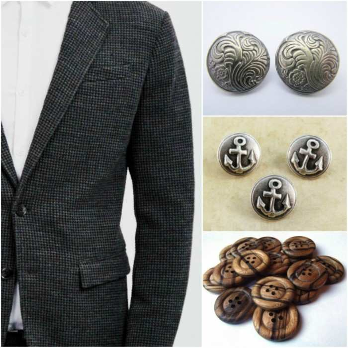 Outfit Grid Buttons on Blazer