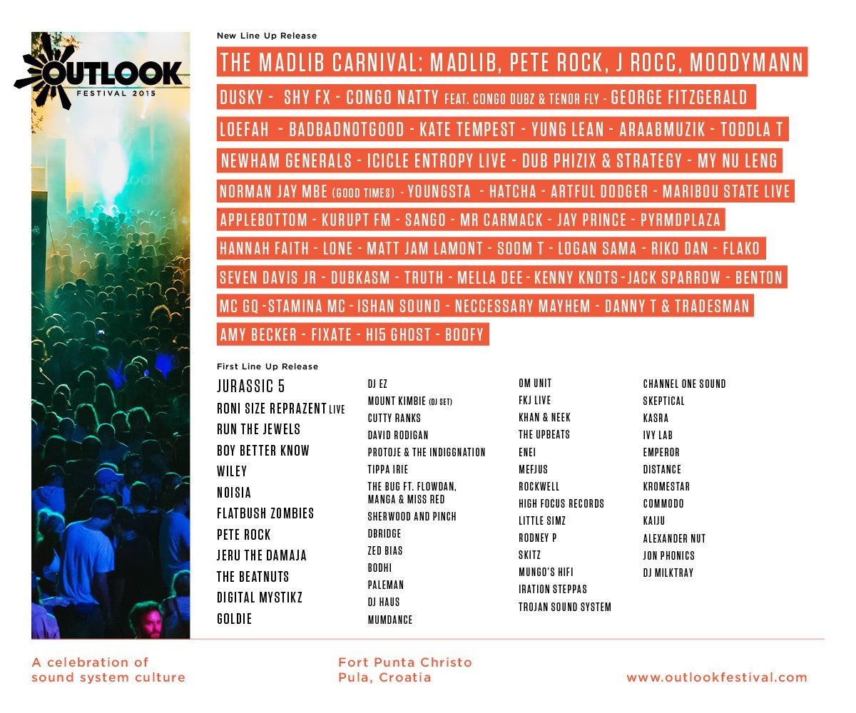 Outlook Festival - second wave of names - flyer