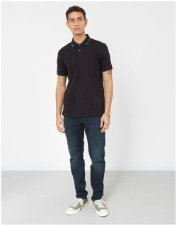 PAUL SMITH Regular Fit Short Sleeve Polo Shirt Navy Mens