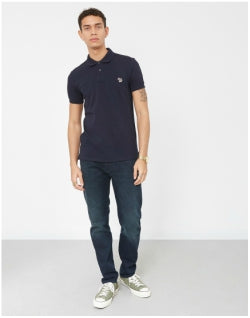 PAUL SMITH Short Sleeve Slim Fit Zebra Polo Shirt Navy Mens