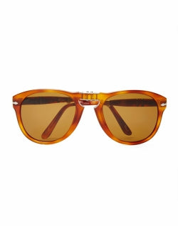 PERSOL mens Foldable Crystal Lens Sunglasses PO0714 Brown