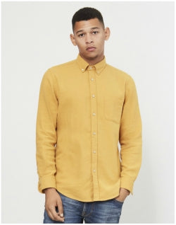 PORTUGUESE FLANNEL Teca Brushed Shirt Yellow Mens