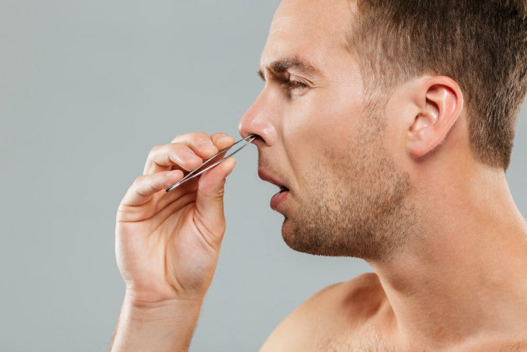 Plucking-Your-Nose-Hair-mens-grooming