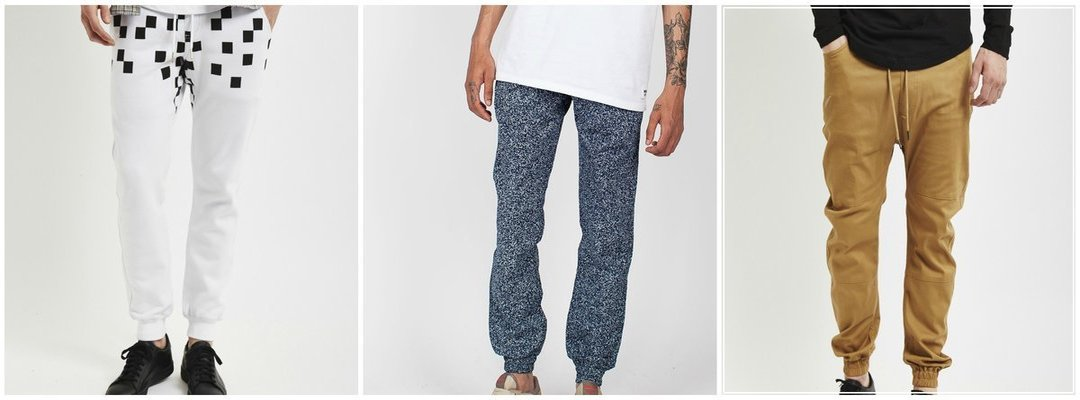 outfit grid mens Printed and coloured joggers bold print