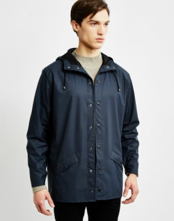 RAINS Jacket Navy mens