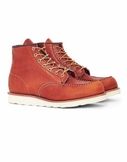 RED WING Mens Heritage 6-Inch Classic Moc Toe Leather