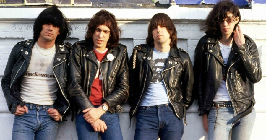 Ramones in leather jackets