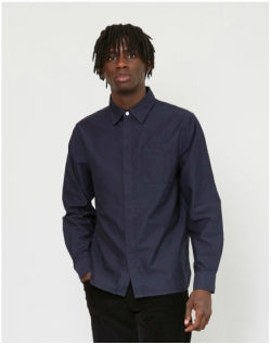 SATURDAYS NYC Mickey Moleskin Shirt Navy Mens