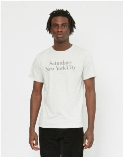 SATURDAYS NYC Miller Standard T-Shirt Off White Mens