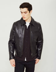 SCHOTT NYC Casual Leather Mens Jacket Black