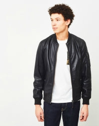 schott nyc leather bomber jacket for men