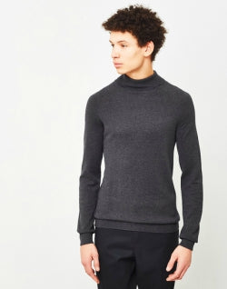 SELECTED Adam Roll Neck Jumper Grey mens