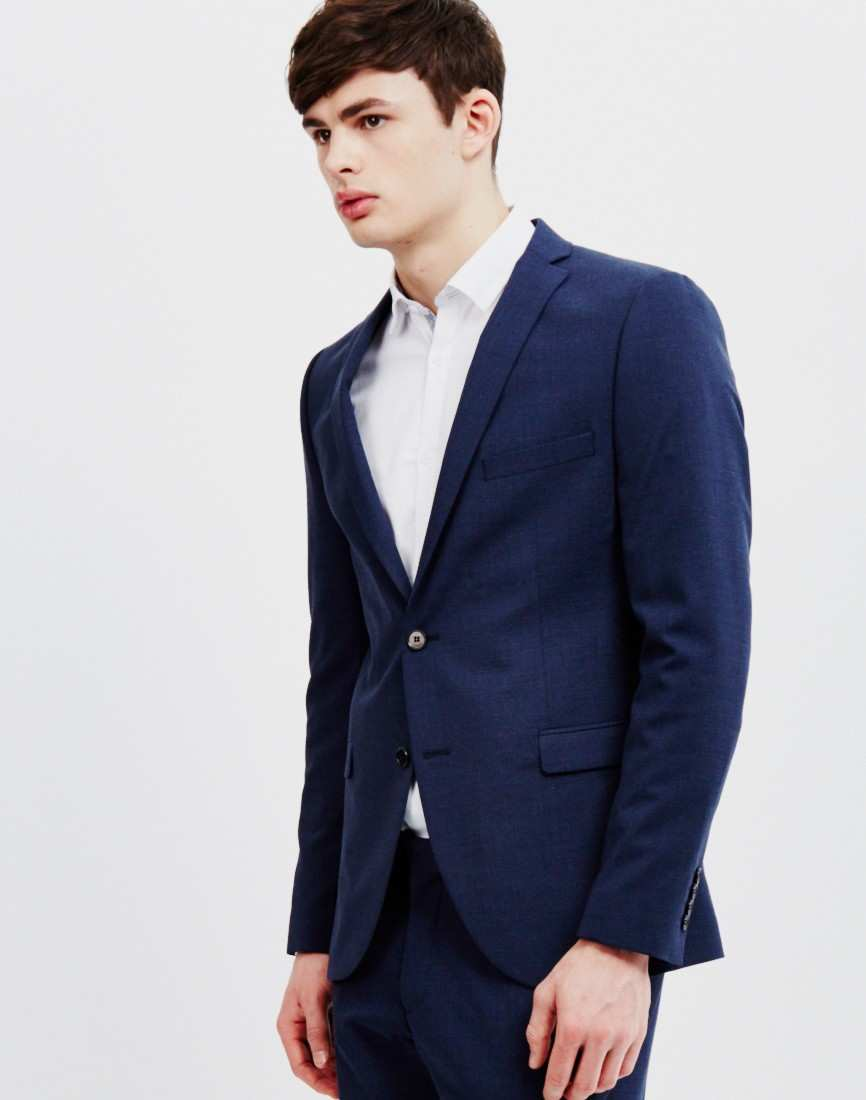 selected mylogi navy mix mens blazer