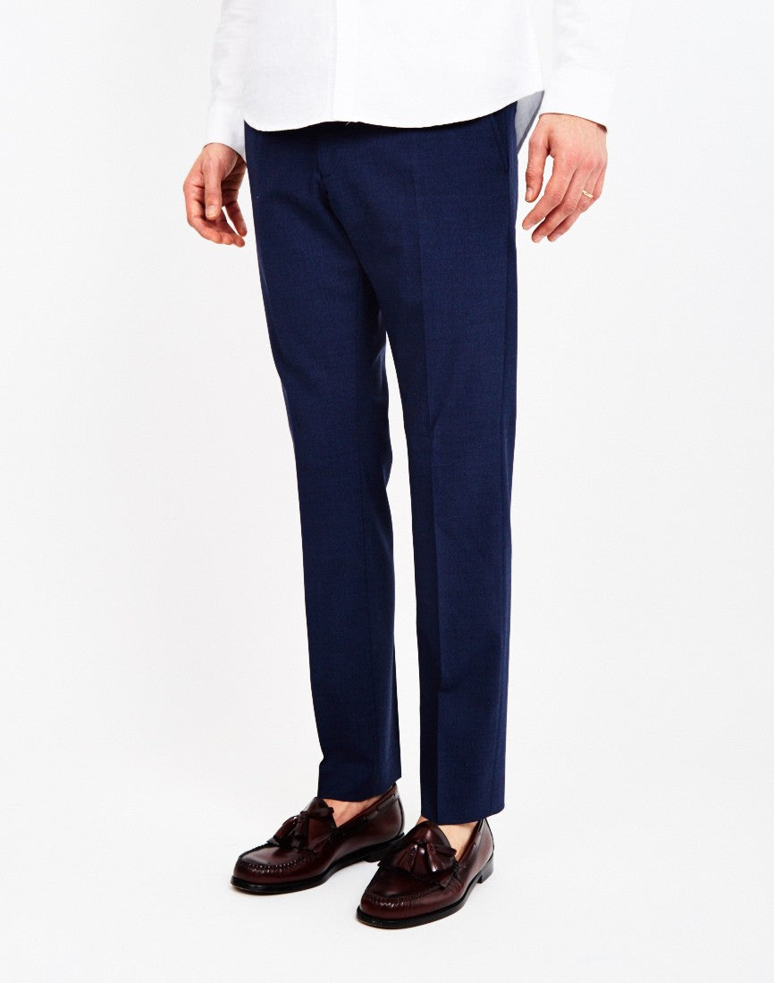 selected mylogi navy mix smart trouser mens