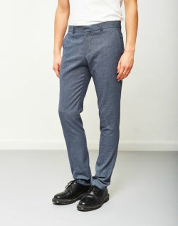 SELECTED Zero Pattern Trouser Navy mens