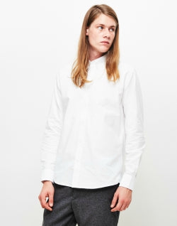 SOULLAND Goldsmith Mens Oxford Shirt White