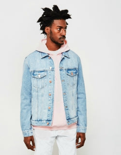 SOULLAND Shelton Mens Denim Jacket Blue