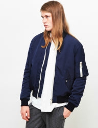 SOULLAND Thomasson Mens Bomber Jacket Navy