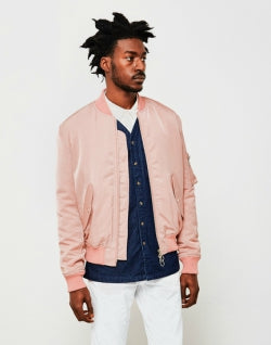 0d4e0469fba SOULLAND Thomasson Mens Bomber Jacket Pink