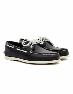 SPERR Mens Classic Leather Boat Shoe Navy