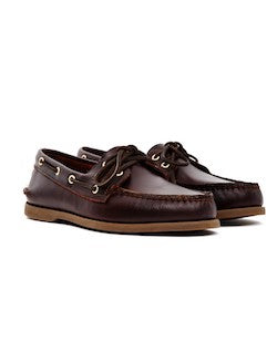 SPERRY Mens Classic Leather Boat Shoe Brown