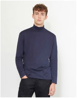 SUNSPEL Roll Neck Jumper Navy Mens