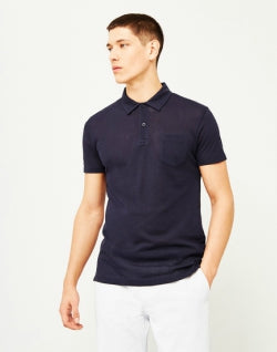SUNSPEL Short Sleeve Riviera Polo Shirt Navy mens