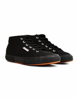 SUPERGA 2754 Cotu Mid Cut Plimsolls Black mens