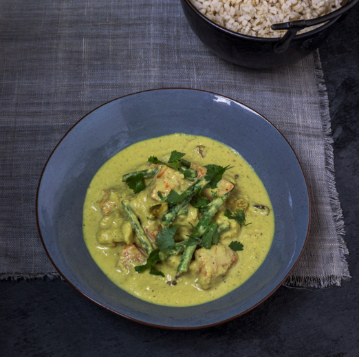 vegetarian korma from Whole Food Heaven