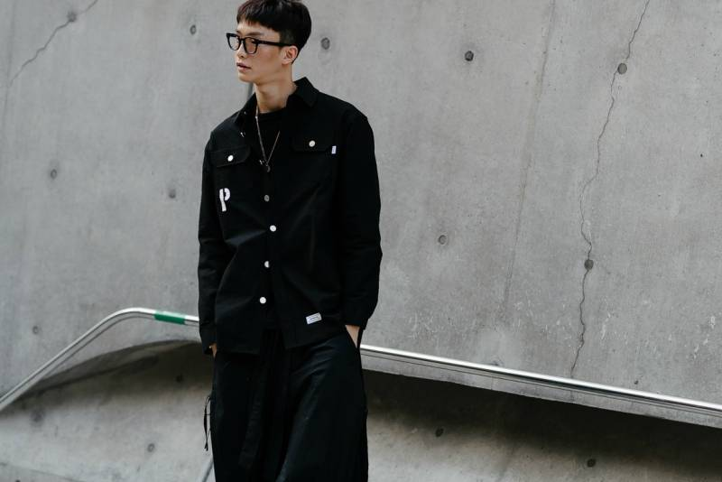 Seoul Fashion Week Men Hair blunt fringe look