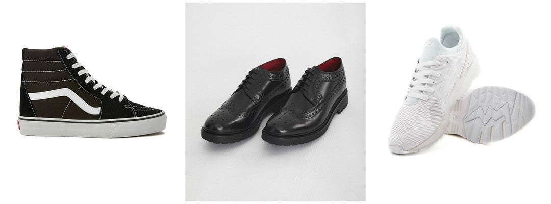 Shoes trainers and brogues