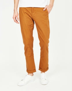 THE IDLE MAN Basic Chino Brown mens