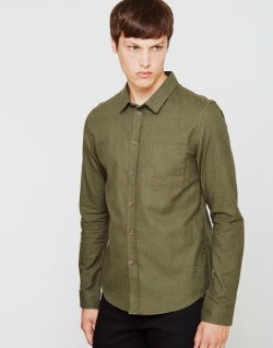 THE IDLE MAN Basic Shirt Green mens