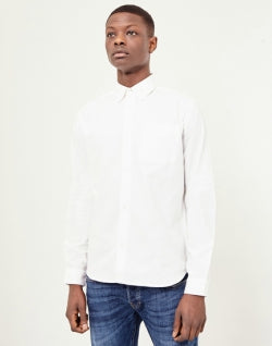 THE IDLE MAN Casual Oxford Shirt White mens