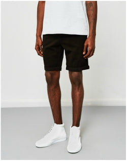 15bf5407be0c THE IDLE MAN Chino Short Black Mens