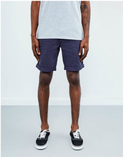 THE IDLE MAN Chino Short Navy Mens
