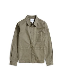 THE IDLE MAN Chore Jacket Green