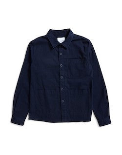 THE IDLE MAN Chore Jacket Navy