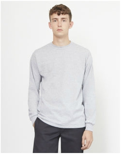 THE IDLE MAN Classic Long Sleeve T-Shirt Grey Mens