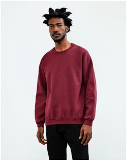 THE IDLE MAN Classic Sweatshirt Burgundy Mens