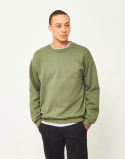 THE IDLE MAN Classic Sweatshirt Green mens