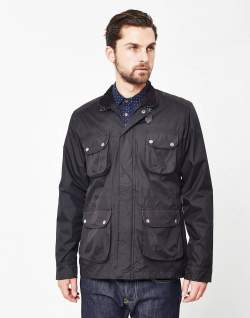 the idle man coated field jacket black mens
