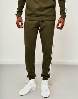 cd1f524bf THE IDLE MAN Contrast Tape Jogger Green mens