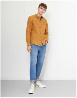 THE IDLE MAN Corduroy Shirt Mustard Mens