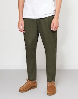 THE IDLE MAN Cropped Chino Green mens