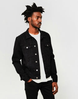 THE IDLE MAN Denim Jacket Black mens