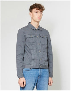 THE IDLE MAN Denim Jacket Grey Mens