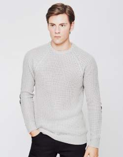 mens off white fisherman jumper