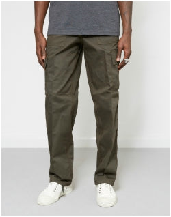 THE IDLE MAN Green Cargo Trouser Mens