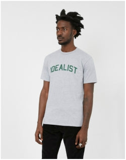 THE IDLE MAN Idealist T-Shirt Grey Mens